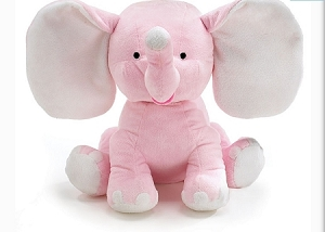 Large Personalized Plush Elephant