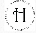 Personalized Return Address Stamp -The Harrington