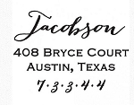 Personalized Return Address Stamp -The Jacobson