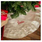 Monogrammed Juco Christmas Tree Skirt