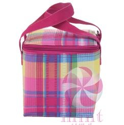 Popsicle seersucker plaid lunch sack