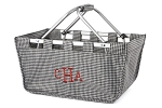 Personalized Houndstooth Market Tote