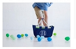 Personalized Mini Market Tote Navy