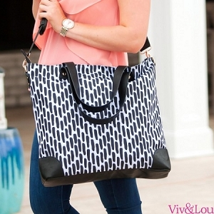Monogrammed Carolina Night Shoulder Bag