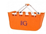 Personalized Orange Market Tote