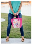 Monogrammed Paisley Cooler Tote