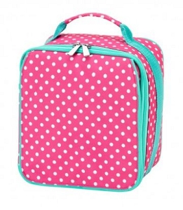 Personalized Pink Dottie Child's Lunchbox