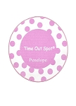 Personalized Polka Dot Timeout Spot