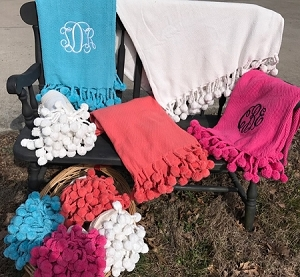 Personalized Pom Pom Throw