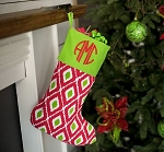 Monogrammed Ikat Stocking