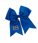 Royal Blue Monogrammed Hairbow