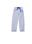 Monogrammed Royal Blue Seersucker Pajama Pants