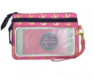 Simply Southern Gold Anchor Print Phone Wristlet