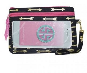 Simply Southern Gold Arrow Style Phone Wristlet