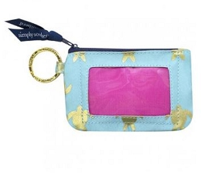 Simply Southern Gold Turtle Keychain ID Holder