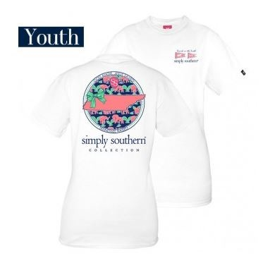 Simply Southern Tennessee State Youth Shirt
