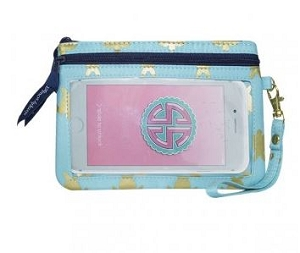 Simply Southern Gold Turtle Design Phone Wristlet