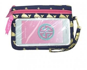 Simply Southern Gold Whales style Phone Wristlet