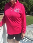 Monogrammed Ladies Warm Up Pullover  Jacket