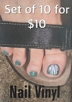 10 for $10 Toe Vinyl Monograms