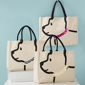 Dog Sequin Tote bag