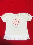 Monogrammed Be My Valentine Ruffle T-Shirt-Infant, Toddler, Youth Sizes