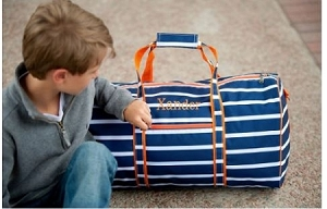 Monogrammed Line Up Duffel Bag