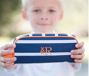 Monogrammed Line Up Pencil Pouch