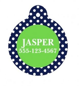 Customized Pet Tag Circle Design