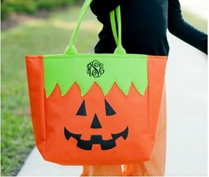 Monogrammed Halloween Trick or Treat Tote bag