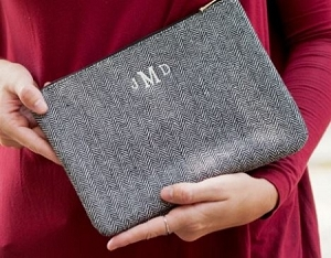 Monogrammed Townsend pouch