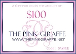 Monogrammed Gift Certificate