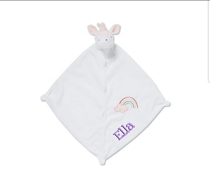 Monogrammed Unicorn Baby's Lovie Blanket