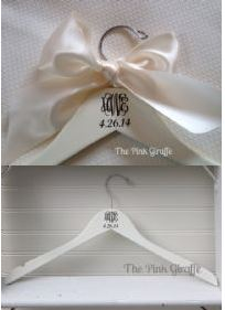 Wedding Dress Hanger.Monogrammed Wedding Dress Hanger