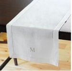 Monogrammed Hemstitched Table Runner