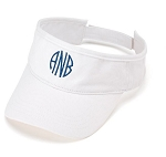 Monogrammed Ladies' White Visor