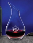 Monogrammed Glass Wine Decanter
