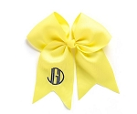 Monogrammed Yellow Grosgrain Hair Bow