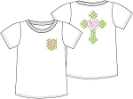 Monogrammed Youth Easter Cross Icon Shirt