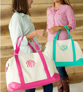 Monogrammed Bags and Totes