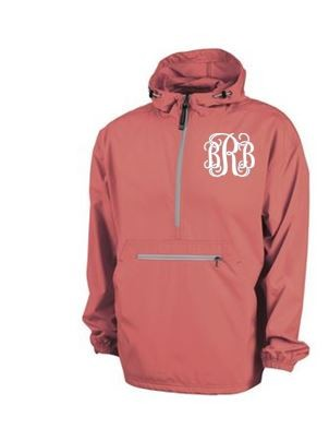 Monogrammed Ladies Coral Wind Breaker
