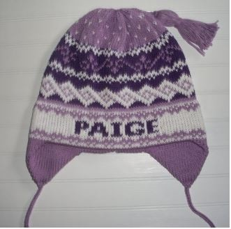 Personalized Multi-Color Ear Flap Child's Winter Hat