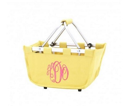 Personalized Mini Yellow Market Tote