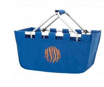Personalized Royal Blue Market Tote