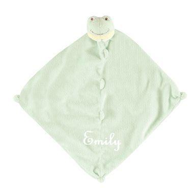 Personalized angel dear frog lovie monogrammed babys lovie blanket frog personalized negle Gallery