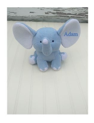 Personalized Plush Elephant