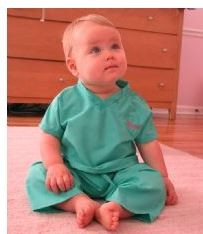 Personalized Baby's First Scrubs