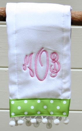 Personalized Girly Girl Burp Cloth