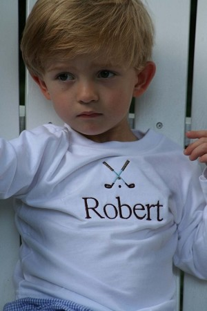 Personalized Golf Clubs Child's Shirt