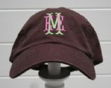 Chocolate Monogrammed Ball Cap